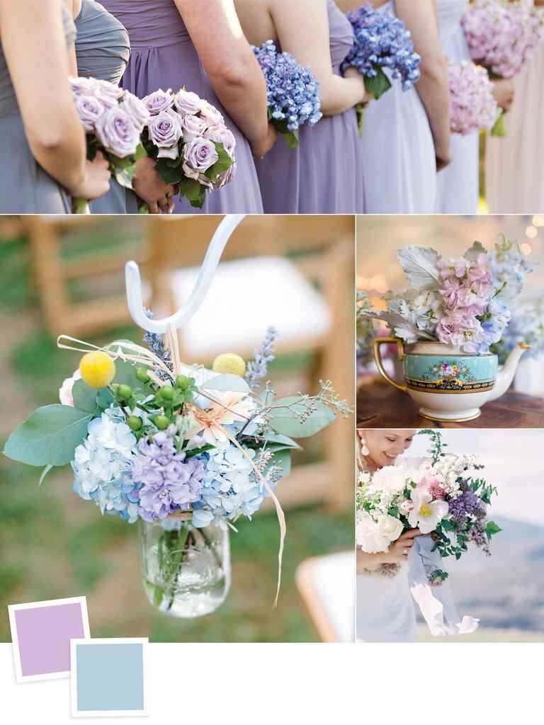 10 New Color Combos You Ll Love Lilac Wedding Blue Purple