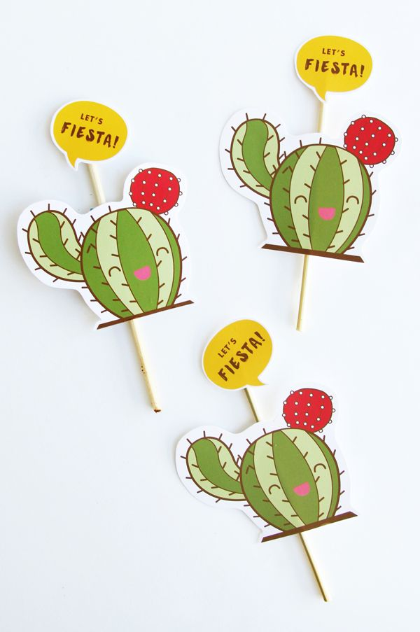Cactus fiesta cupcake toppers  4a18050bd88