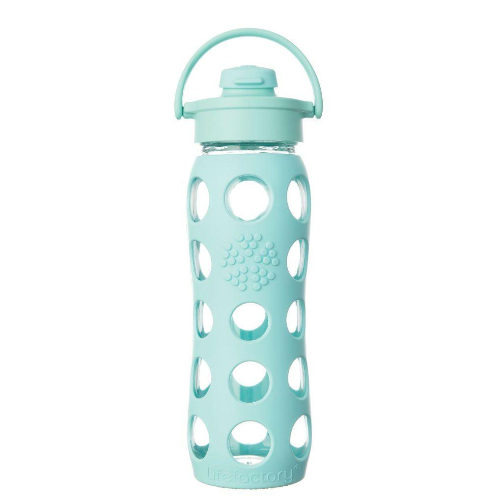 Lifefactory Vidrio-Botella con Paja Cap