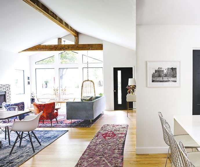 A 1950s ranch house is transformed into a colourful abode ...