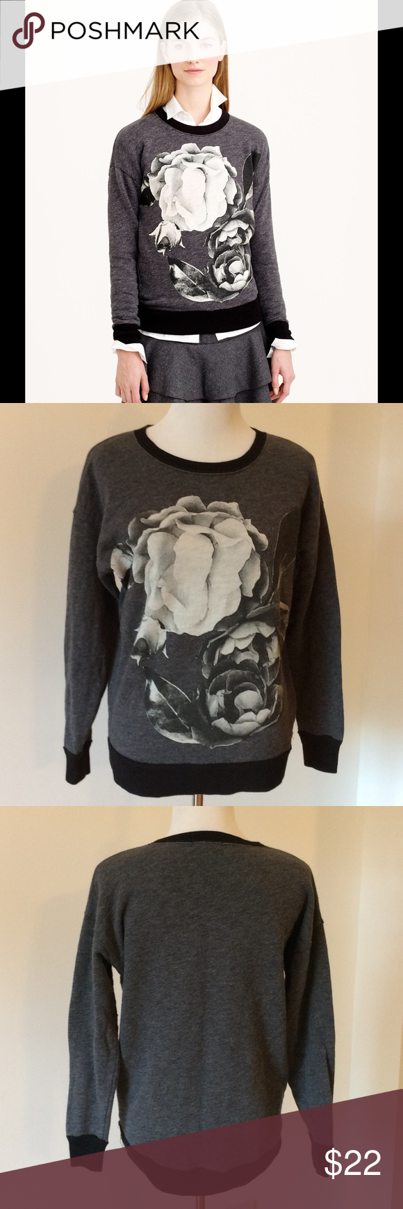 J Crew Oversize Sweatshirt *last markdown * Very good condition. Comfy cute photo crew J. Crew Tops Sweatshirts & Hoodies