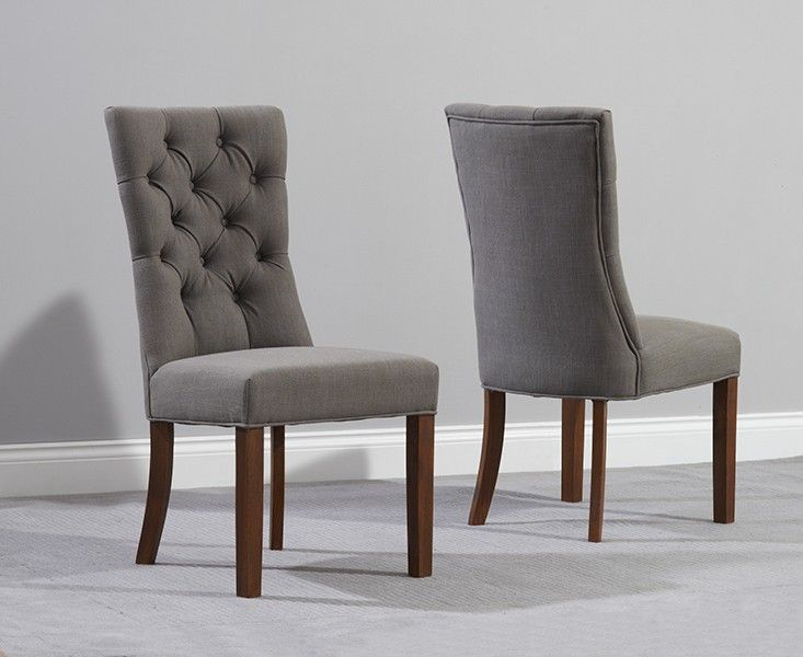 Dining Chairs Fabric, Grey Fabric Dining Chairs With Arms