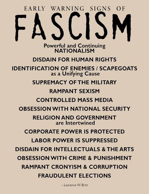 Image result for signs of fascism