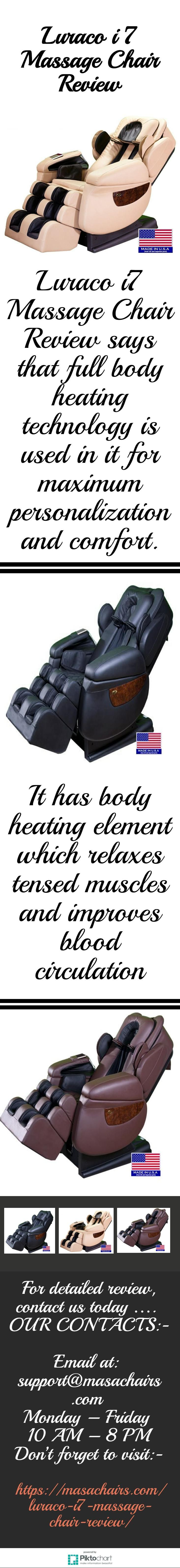 Attrayant The Luraco I7 Massage Chair Review Says That Body Heating Element Used In  It Which Relaxes Tensed Muscles And Improves Blood Circulation.