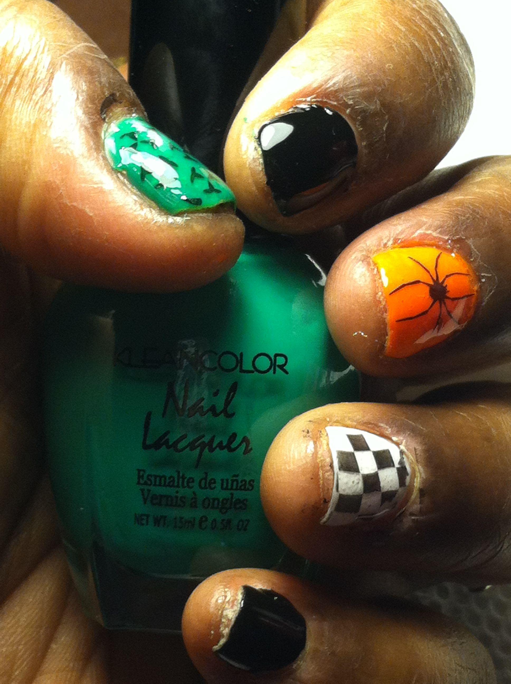 My Halloween nails 2013 | Easy toe nail designs, Beginner ...