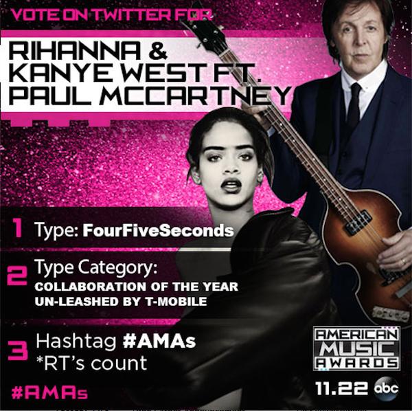 #Rihanna & #KanyeWest ft #PaulMcCartney en #AMAs 2015 - LYS Groups Light & Sounds / ERD Music News®