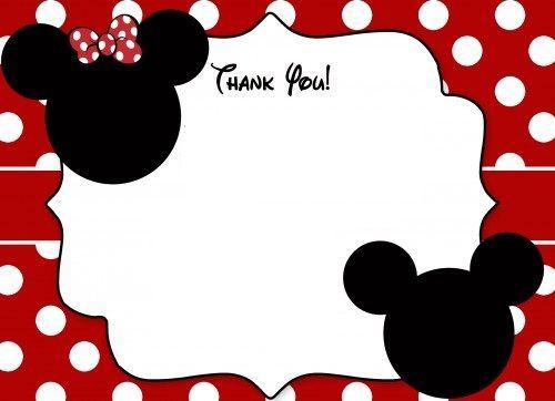 Mickey Mouse Printable Birthday Party Invitations Printable