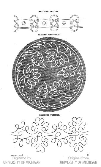 soutache embroidery pattern Godey's civil war era