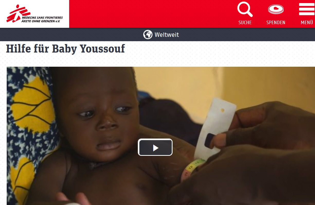 _Doctors without Frontiers: Please help Baby Youssouf