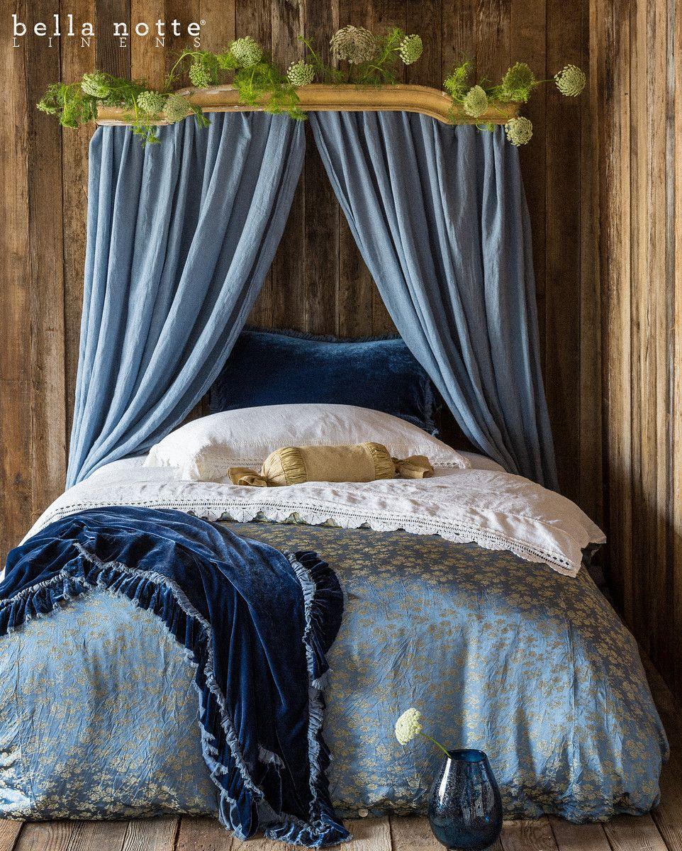 Bella Notte New Wedgwood Blue Royal Blue Vintage Inspired Bedding