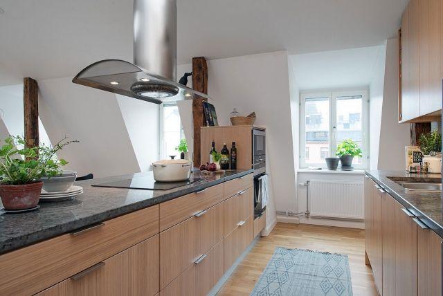 Moderne Loft Wohnung im skandinavischen Stil mit naturschöner Deko ...