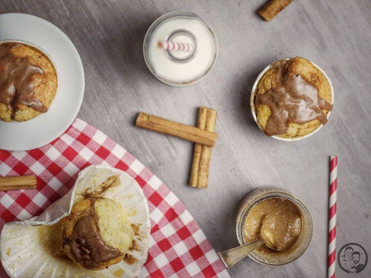 Apfel Muffins mit gebrannten Mandeln #apfelmuffinsrezepte