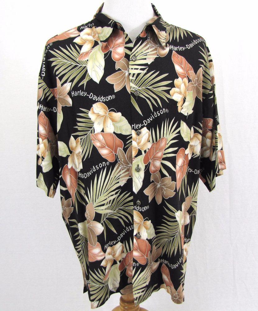 e9d45dbe Harley Davidson Hawaiian Shirt XXL Motorcycle Floral Hibiscus Tori Richard  Aloha #HarleyDavidson #Hawaiian
