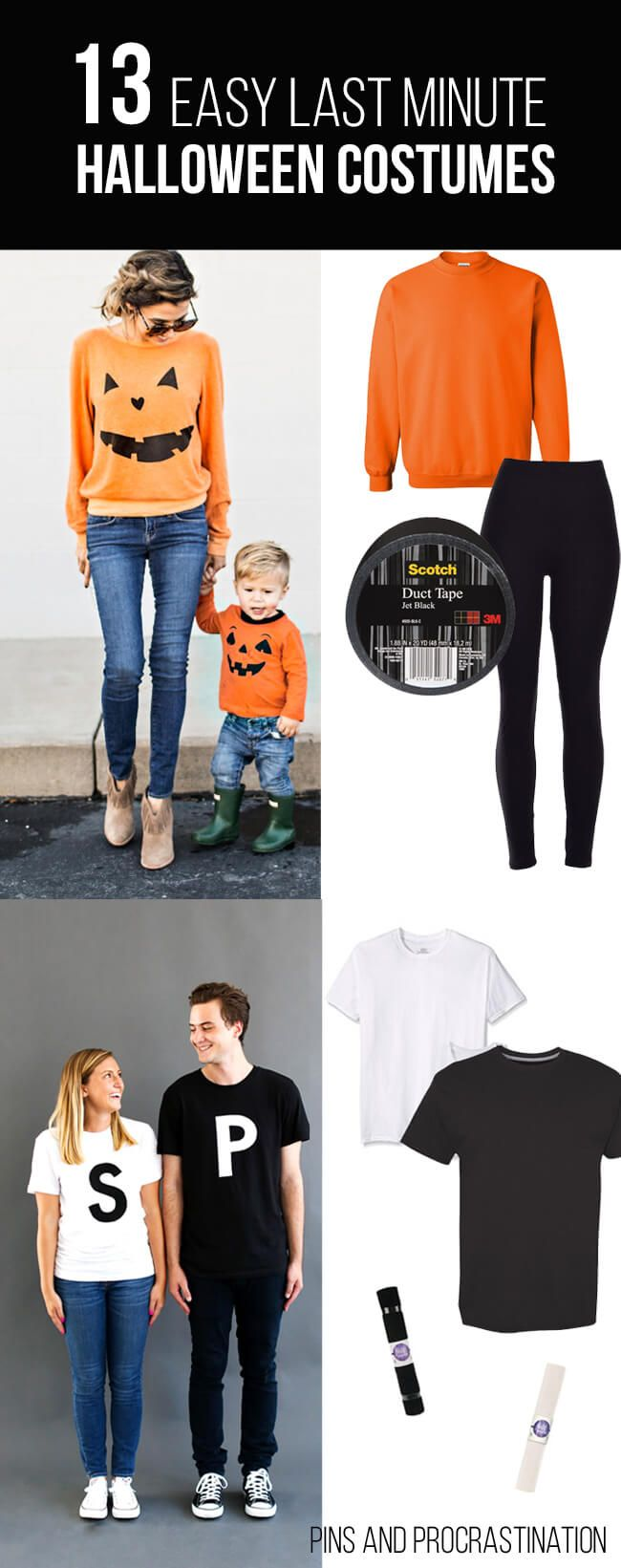 13 easy last minute diy halloween costumes - Last Minute Halloween Decorations