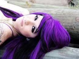 i want purple hair!!!