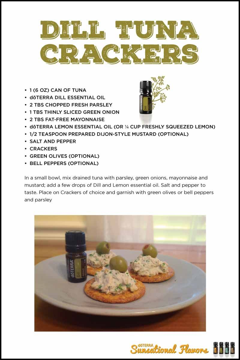 Dill tuna crackers my doterra food recipes pinterest dill tuna crackers with doterra essential oils forumfinder Choice Image
