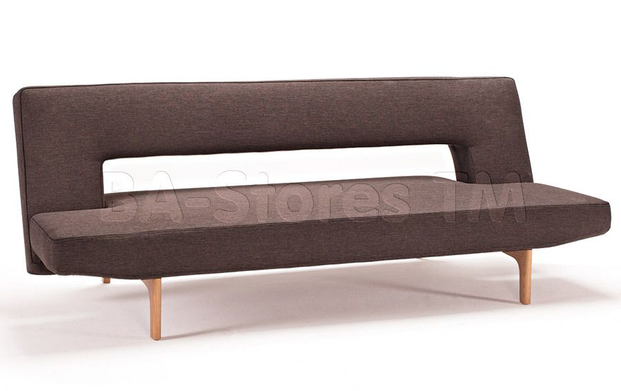Puzzle Mixed Dance Brown Sofa Bed Licqured Oak Le By Innovation