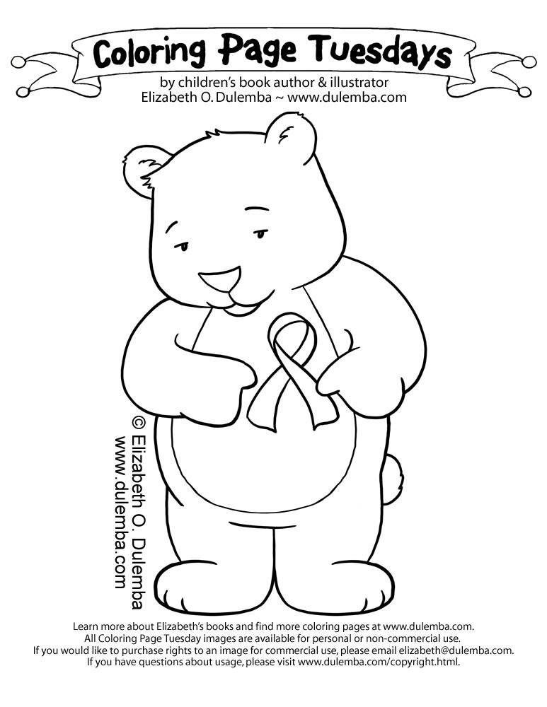 Breast Cancer Awareness Month Coloring Pages | BetweentheKids.com ...