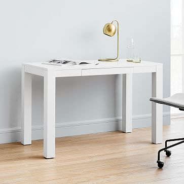 Parsons Desk With Drawers White Parsons Desk Desk With Drawers