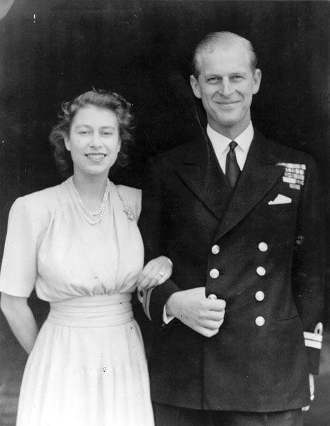 Queen Elizabeth's engagement to Phillip Mountbatten