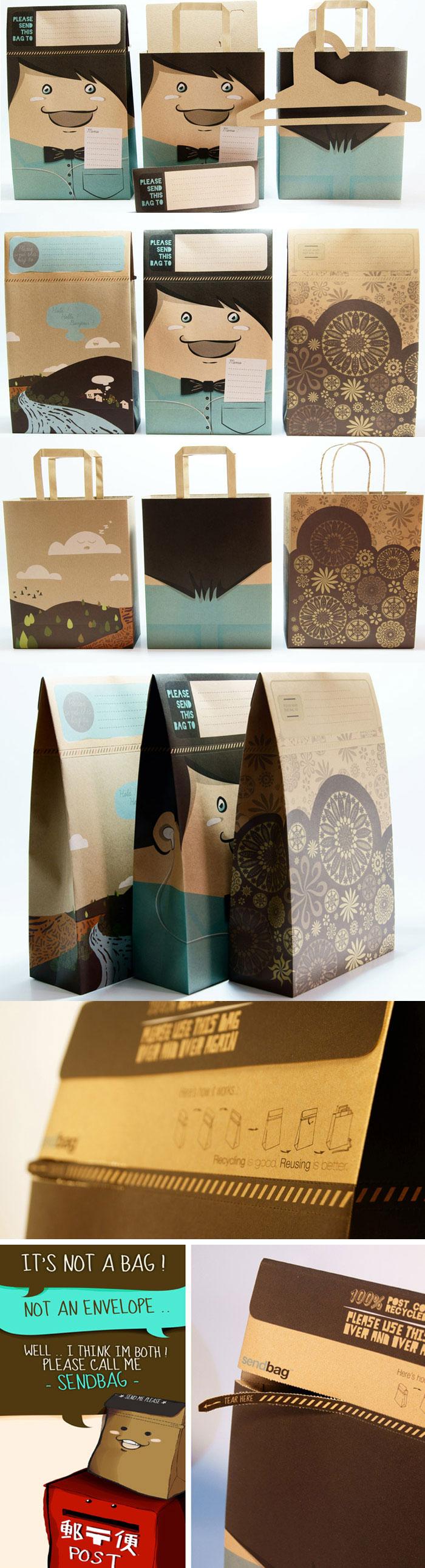 Sendbag is a multi-purpose craft paper bag designed by Multipack Sentra Perkasa
