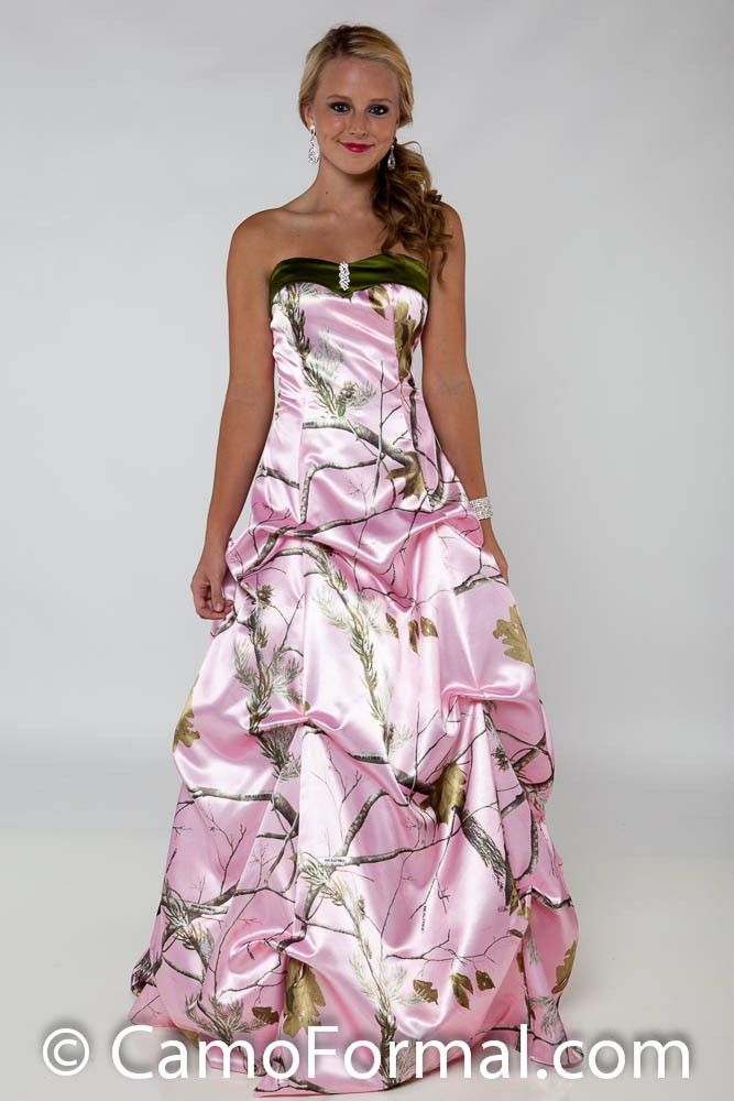 Camo Wedding Dresses Camouflage And Hot Pink 1 Dresses Pinterest