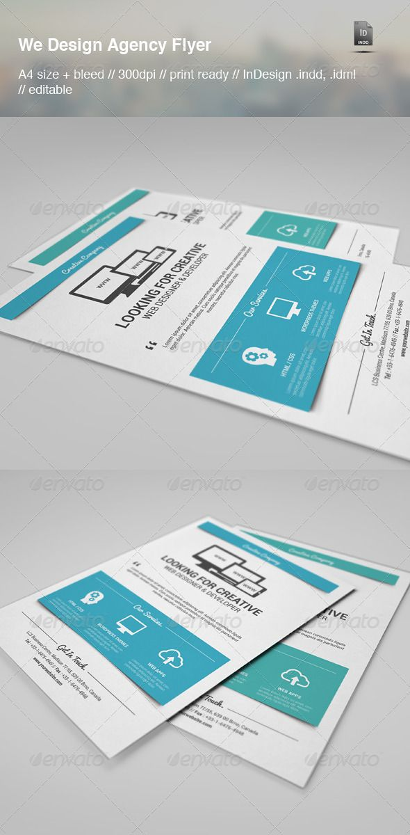 Web Design Agency Flyer Web design agency, Design agency and - web flyer template