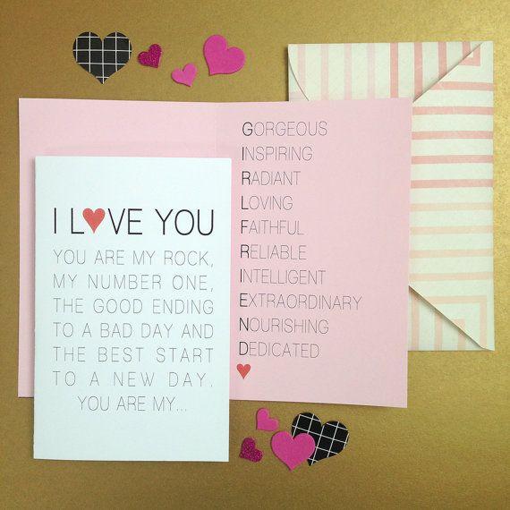 Valentine Card Printable Valentines Day Card Valentine Card Her