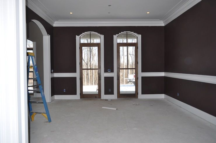 Eggplant Brown Paint Color Loving This Layout For The Master Bedroom Too Love Doors