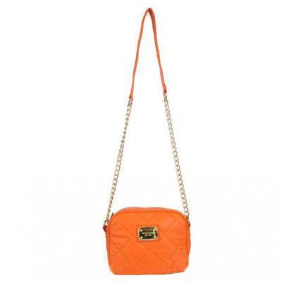 Michael Kors Hamilton Quilted Crossbody Bags Orange