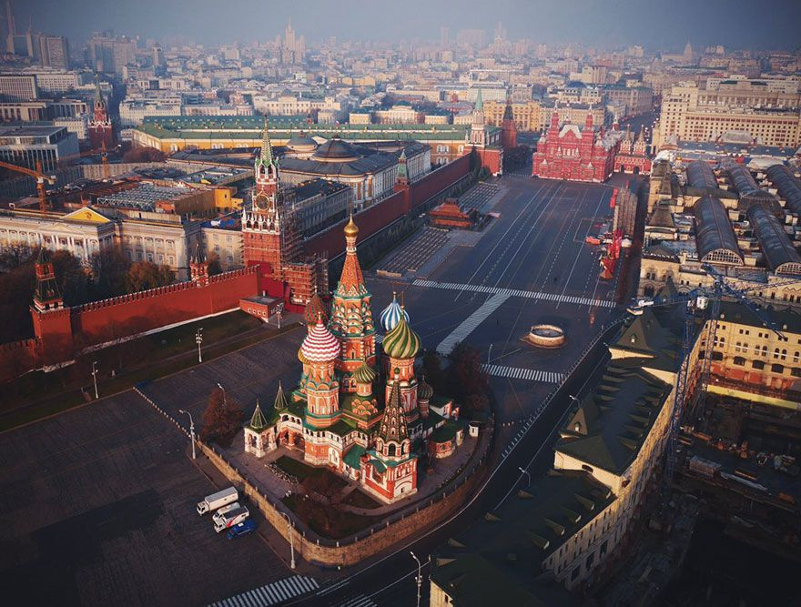 My 21 Aerial Drone Photos Would Be Totally Illegal Today Voyage Russie Cathedrale Saint Basile Paysage Urbain