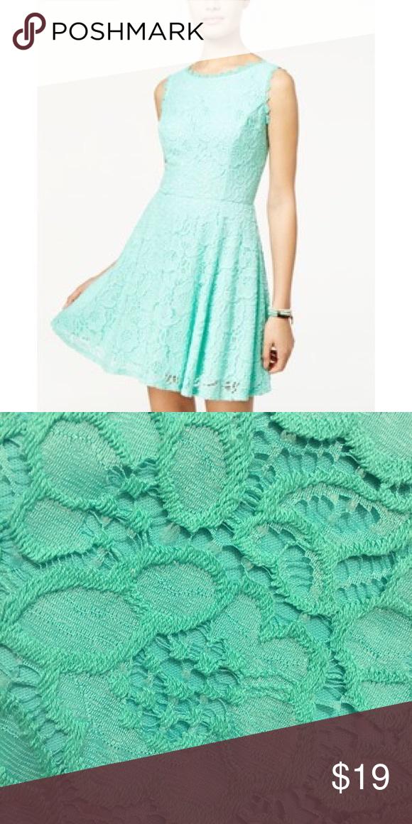 c68deeb2ee9 Beautiful Mint Lace Dress from Macy s Worn once