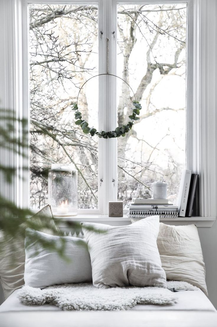 Subtle Seasonal Touches in a Beautiful Swedish Space #christmasdecorideasforlivingroom