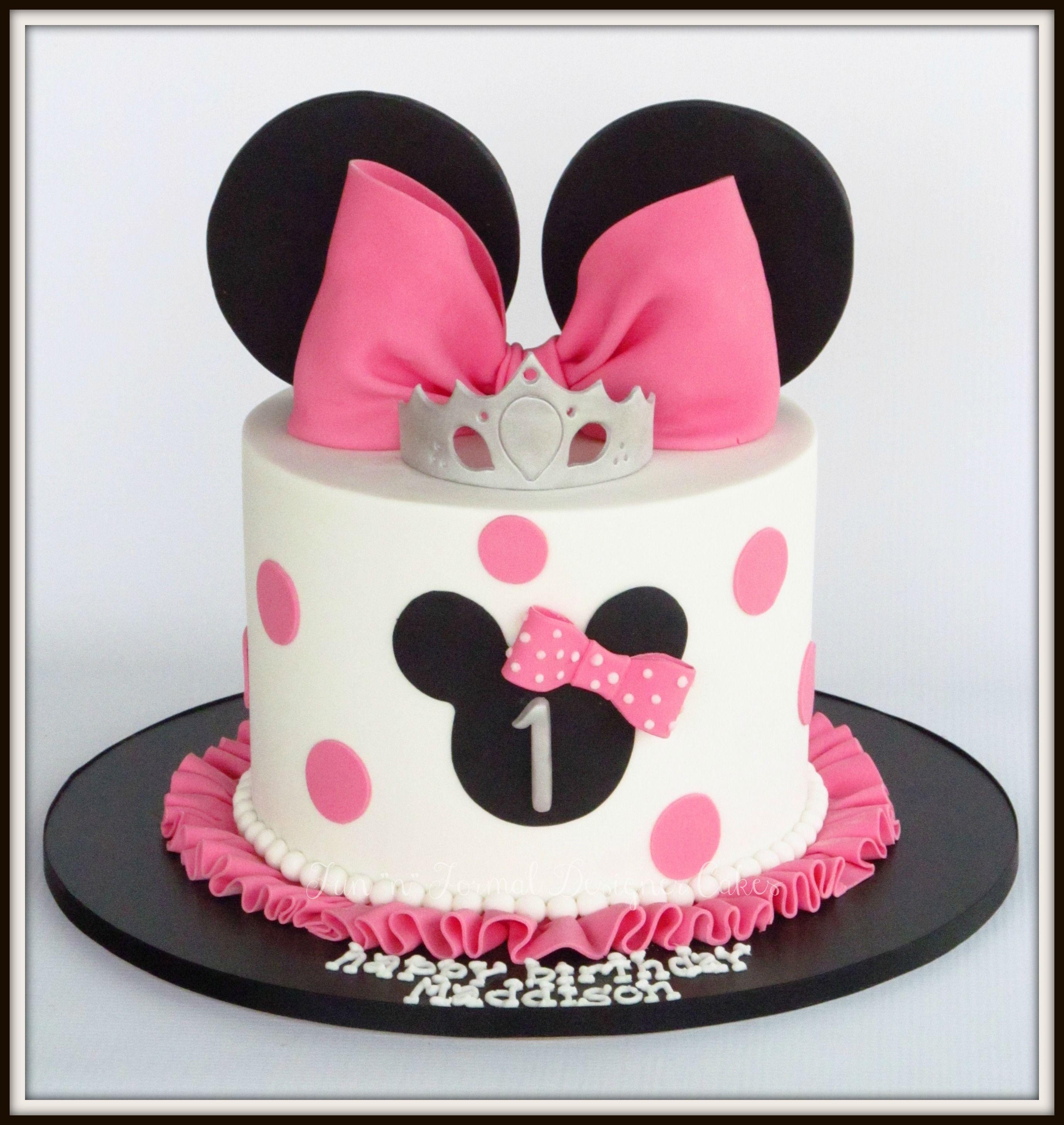 Minnie Mouse birthday cake.  Minnie mouse birthday cakes, Minnie