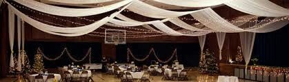Gym decorated for wedding