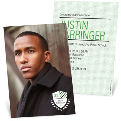 Graduation Announcements -- Class Crest | Pear Tree Greetings
