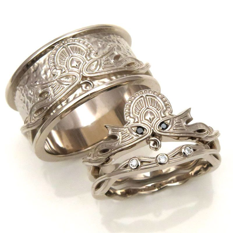 Viking Wedding Ring Sets: 17 Wedding Bands To Blow Your Dude's Mind (updated