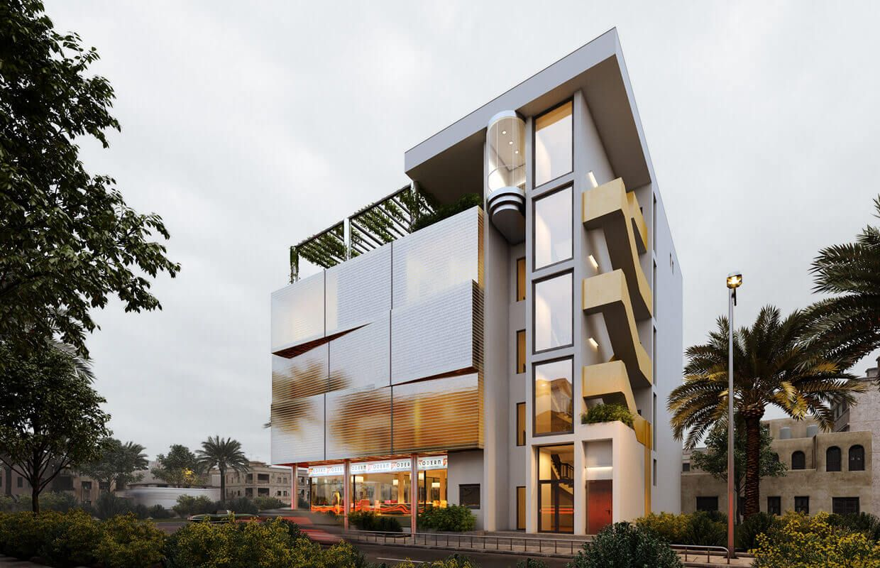 13 Exclusive Modern Commercial Building Design Ideas Building Concept Mix Use Building Building Design