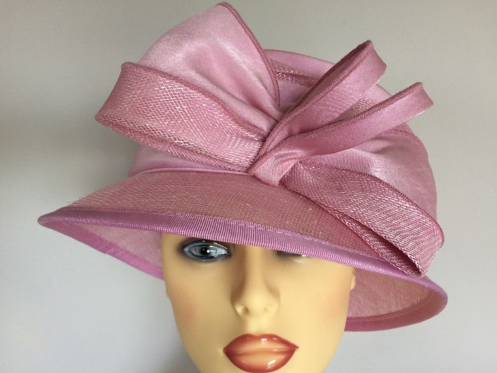 Mother Of The Bride Hats For Short Hair: Ladies Formal Occasion Wedding Races Mother Bride Hat Pink