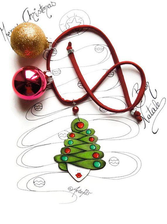 Collana Natalizia, collana Natale , Collana Albero di