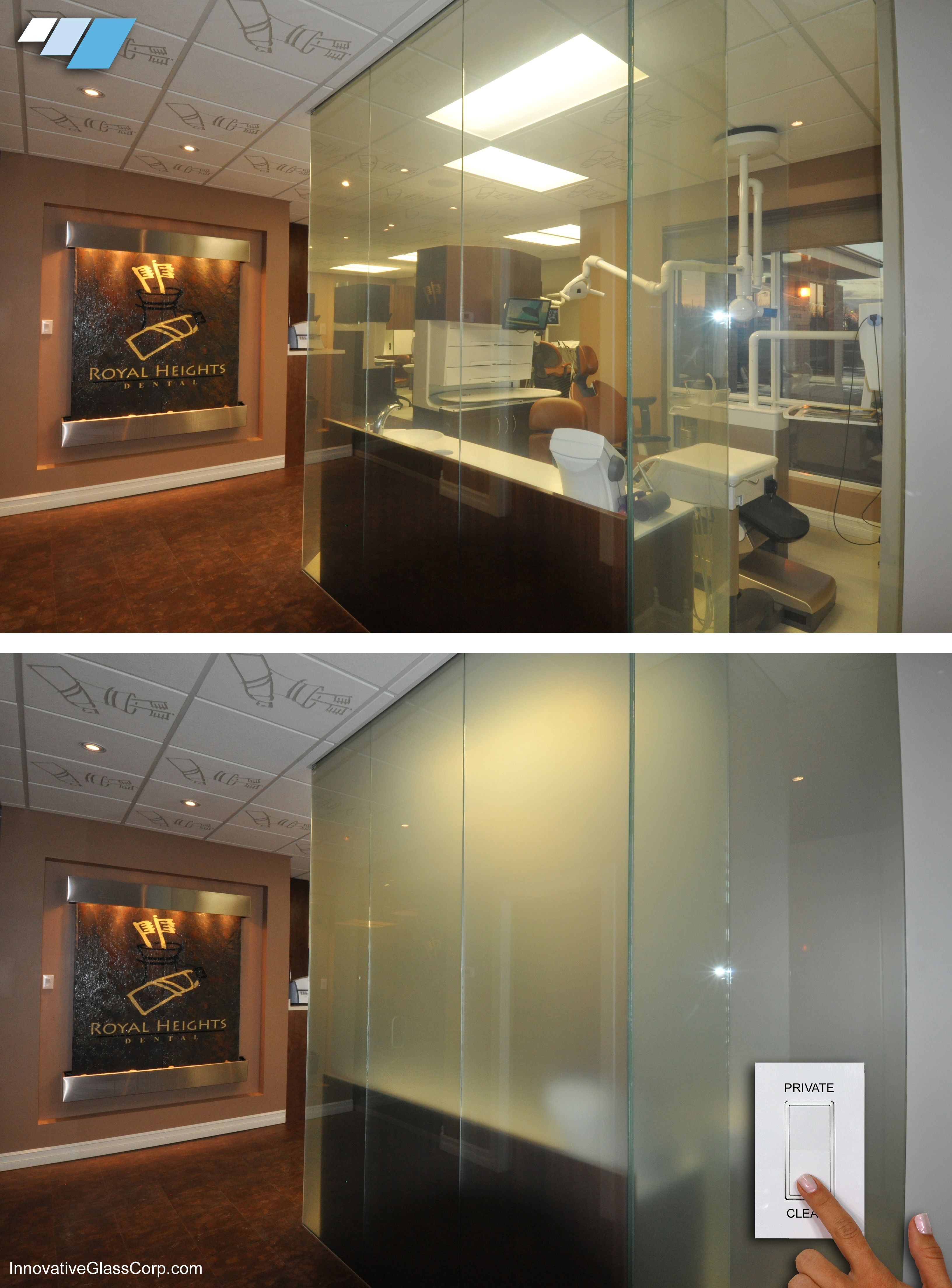 used office room dividers. Switchable Glass Room Dividers For Dental Office When The Rooms Are Not Being Used, Used