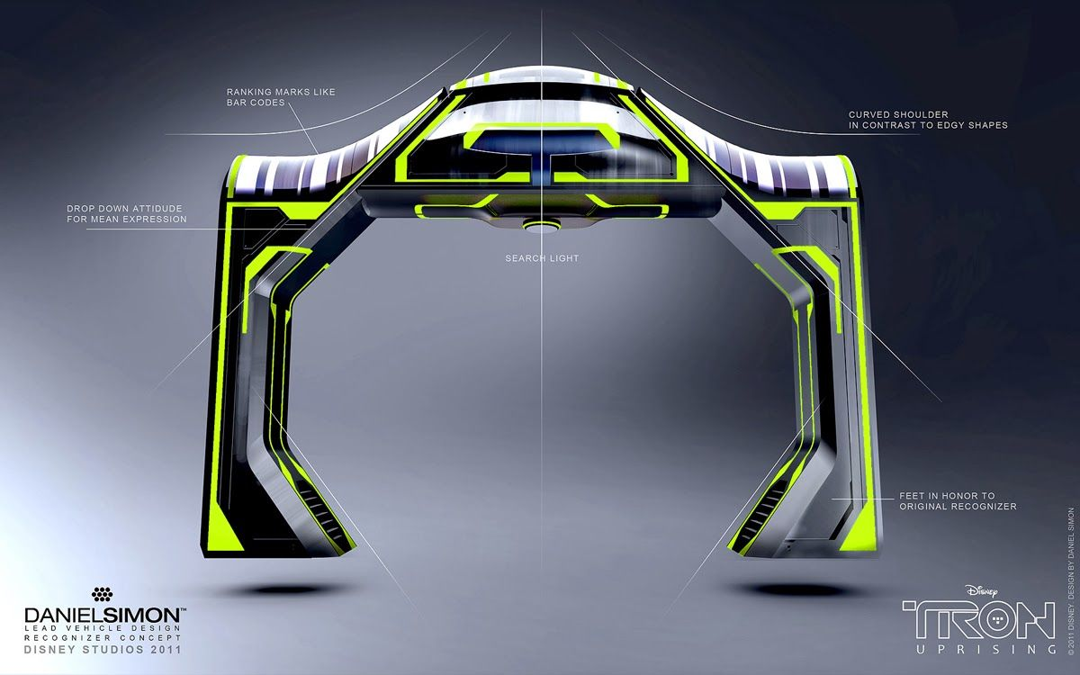 Titans Terrors & Toys: The Art of Tron: Uprising (Part 2 of 4): Vehicles and Equipment