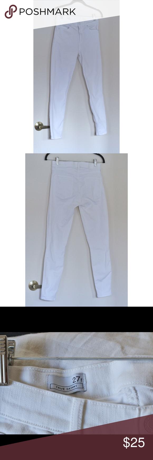 Women's Gap True Skinny White Jeans Brand: Gap True Skinny Size: 27R GAP Jeans Skinny