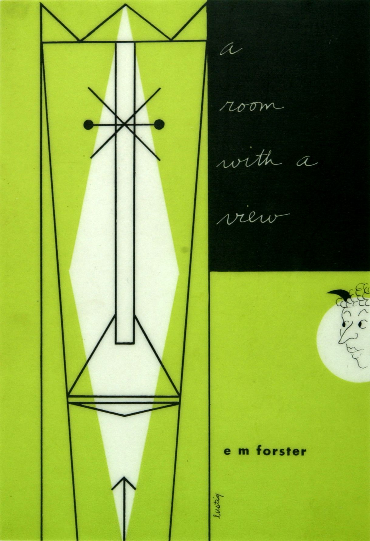 A Room With A view, EM Forster. Book cover design by Alvin Lustig (1946)   RIT Graphic Design Archive