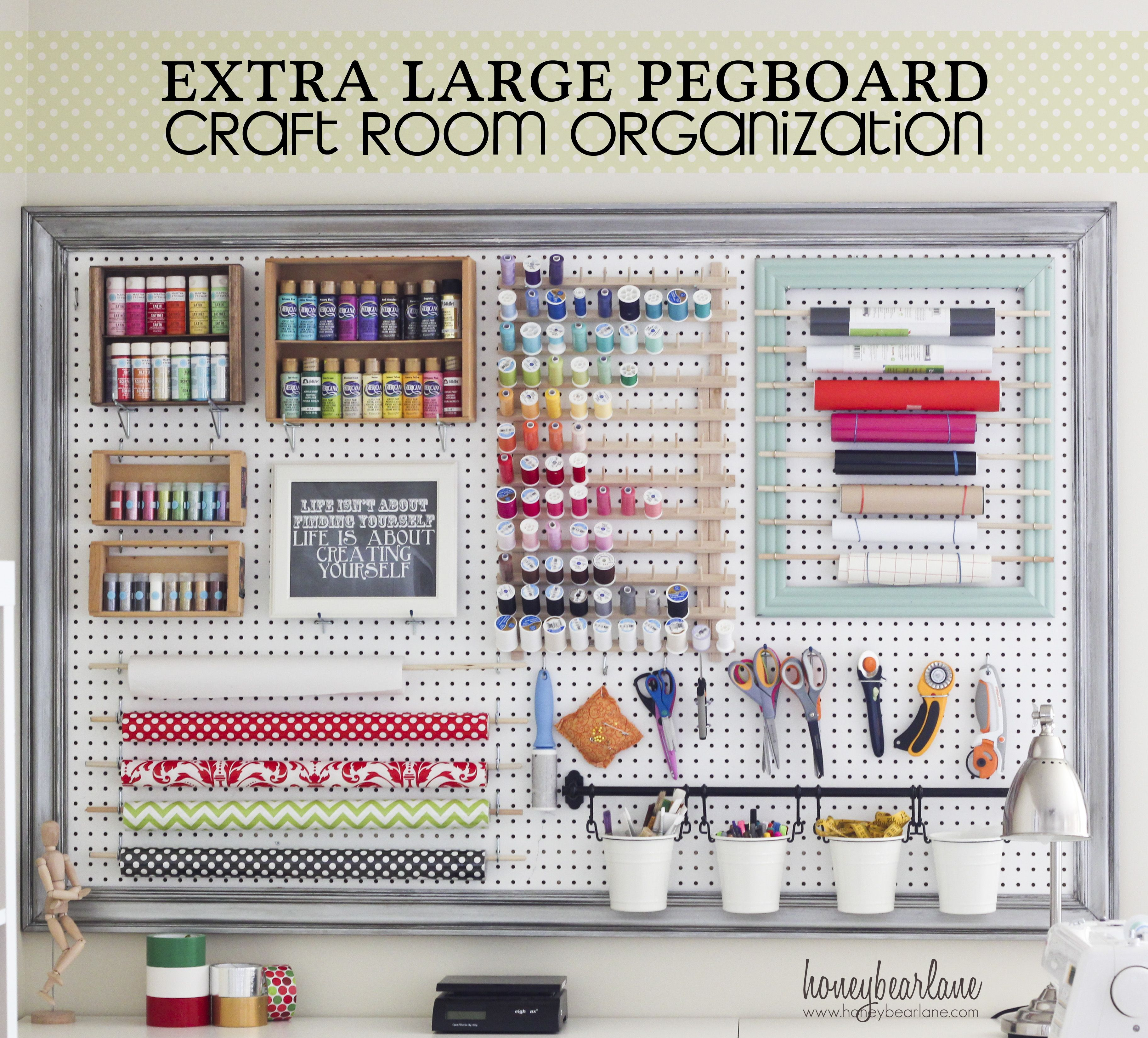 About us pegboard craft room organizations and craft room storage - Craft room ideas for small spaces concept ...