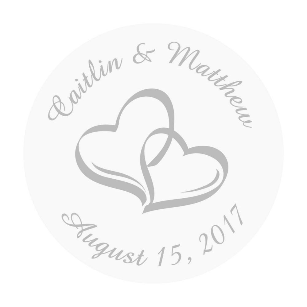 Personalized Two Hearts Favor Stickers Favors And Products