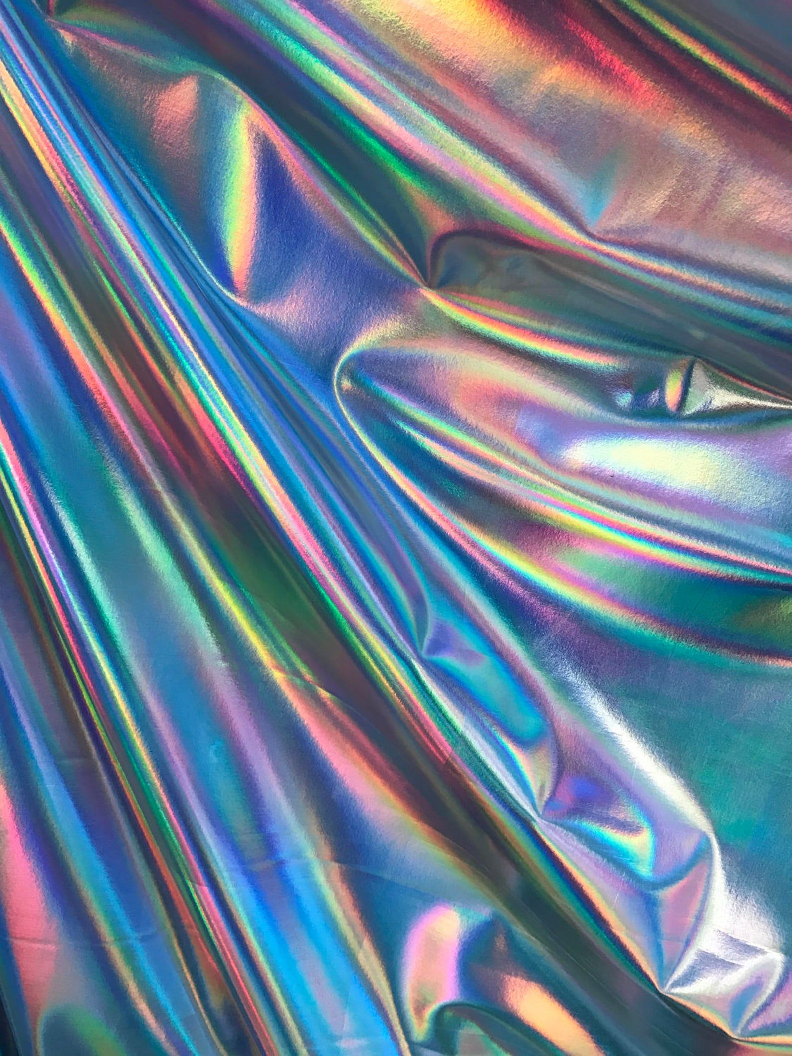 New Iridescent Foil on Spandex Fabric