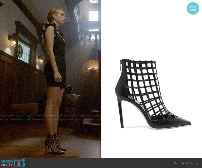 ae9229a5832 Madison s black cage heels on American Horror Story Apocalypse. Outfit  Details  https
