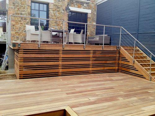 Terrasse bois en hauteur sur pilotis Pool Pinterest Decking
