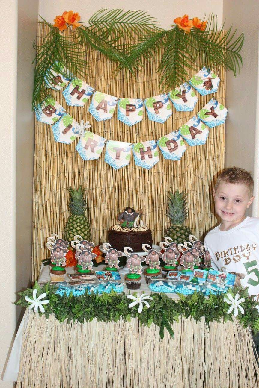 Maui Moana Birthday Party Decor